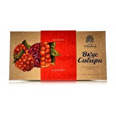 Шоколад темный «Вкус Сибири» с малиной, 100г (Сибирский кедр)
